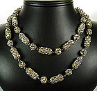 Christian Dior Rope Necklace Brilliant Strass Filigree