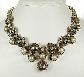 Christian Dior by Kramer Necklace Venetian Glass Stones