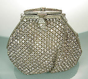 Glittering Art Deco Cocktail Bag in Crystal Strass Mesh