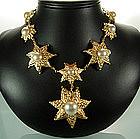 Balenciaga France Rope Star Motif Faux Pearl Necklace