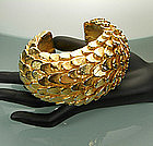 Stunning Dominique Aurientis Paris Gilded Wood Bracelet