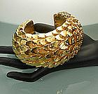 Stunning Dominique Aurientis Paris Gilded Wood Bracelet