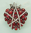 Iradj Moini Wrapped Heart Pin / Pendant, After Verdura