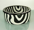Fabulous 1970s Lacquered Lucite Zebra Pattern Bangle