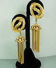 Statement Schiaparelli Drop Earrings: Rope and Tassels