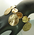 Robert Goossens Paris Bracelet Molten Coin Form Drops
