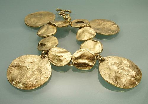 Robert Goossens Paris Bracelet Molten Coin Form Drops
