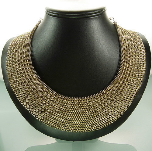 Fabulous Statement Chainmaille Bib Necklace: Eve France