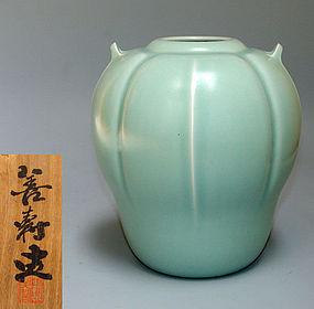 Seiji Tsubo Vase by Miyashita Zenju
