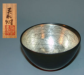 Contemporary Chawan Tea Bowl by Morino Taimei