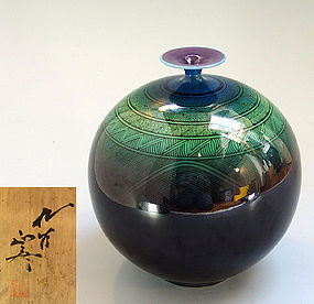 Porcelain Vase, Living National Treasure Yasokichi III