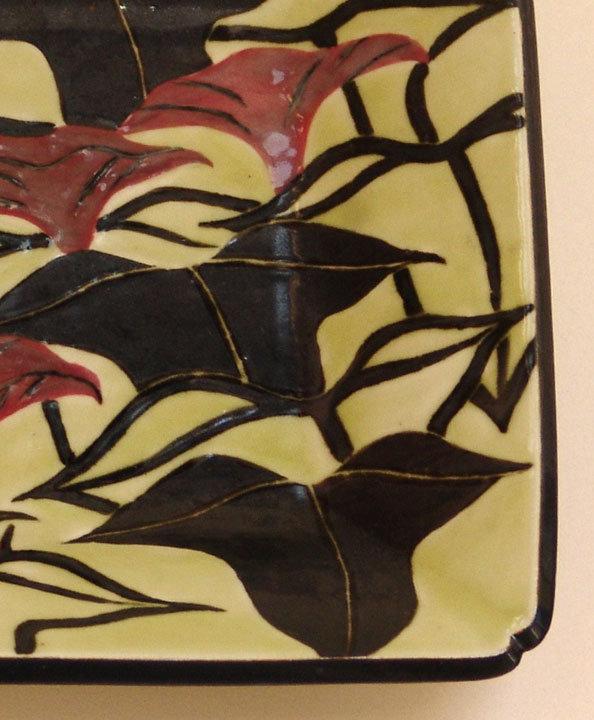 Modern Japanese Platter by Takagi Hoko, Morning Glories