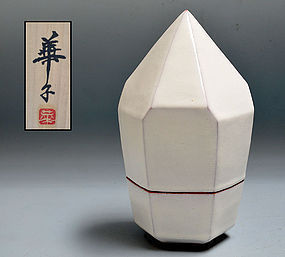 Miwa Hanako Contemporary Ceramic Snow Crystal Sculpture