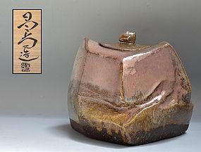 Kaneta Masanao Contemporary Hagi Mizusashi