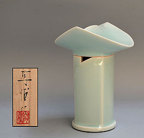 Contemporary Celadon Koro by Fukami Sueharu