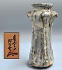 Shino Mimitsuki Vase by Tsukigata Nahiko