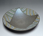Contemporary Japanese Pottery Plate by Mihara Ken