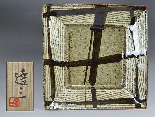 Square Mashiko Plate by LNT Shimaoka Tatsuzo