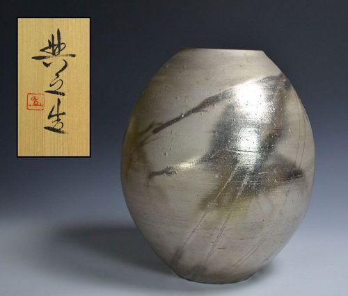 Matsui Tomoyuki Silver Bizen Ginsai Tsubo 1990