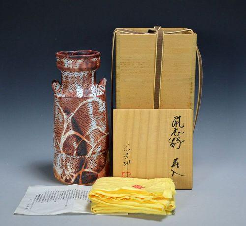 Hayashi Shotaro Modern Japanese Shino Vase