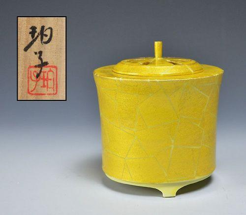 Porcelain Koro Incense Burner by Ono Hakuko