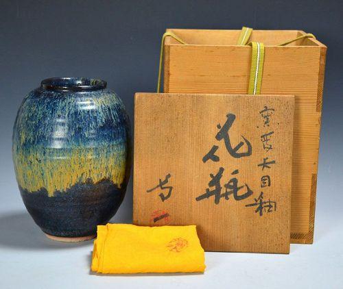Early Shimizu Uichi Kamahen Tenmoku-yu Kabin