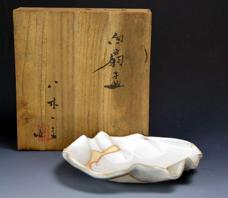 Important Artist & Sodeisha Founder Yagi Kazuo pottery Plate