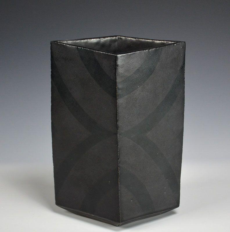 Rare! Kiyomizu Kyubei Mid-century Vase (Rokubei VII)