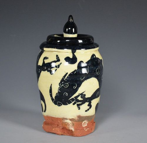 Ibata Katsue Dragon Jar
