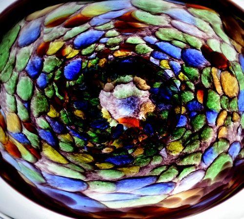 Gorgeous Kobayashi Mitsugi Art-Glass Mosaic Plate