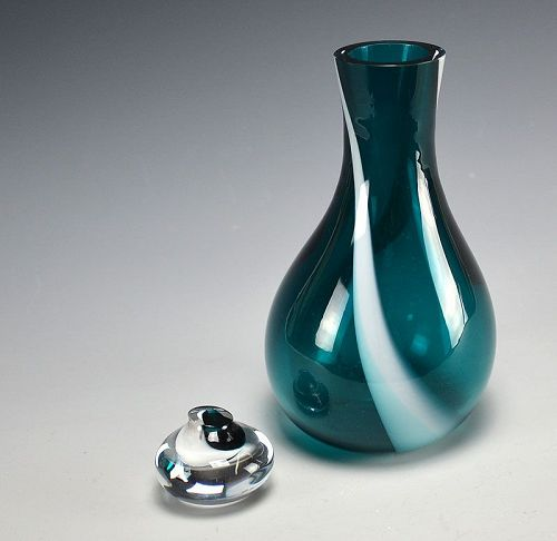 Japanese Art Glass Decanter by Nakashima Yasushi