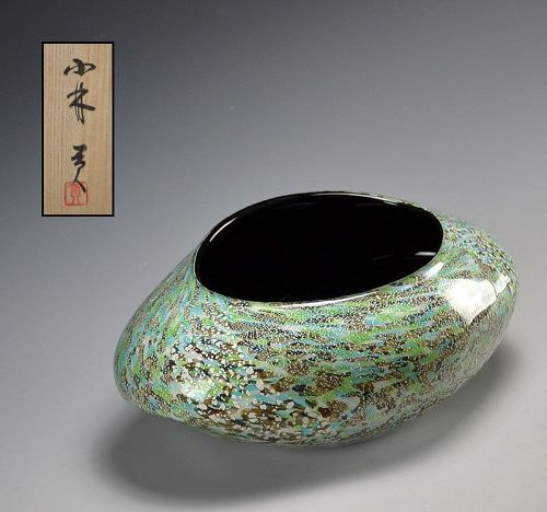 Exquisite Hand-blown Glass Vase by Kobayashi Mitsugi