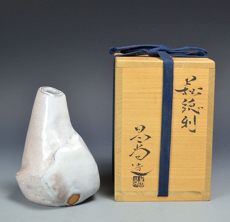 Hagi Kurinuki Tokkuri by Kaneta Masanao