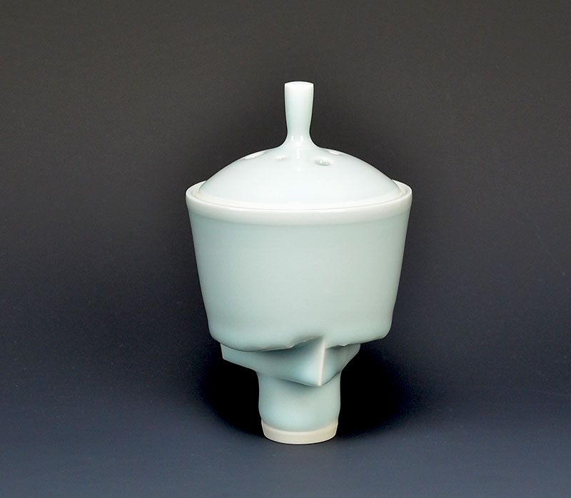 Contemporary Koro Porcelain Incense Burner by Yagi Akira