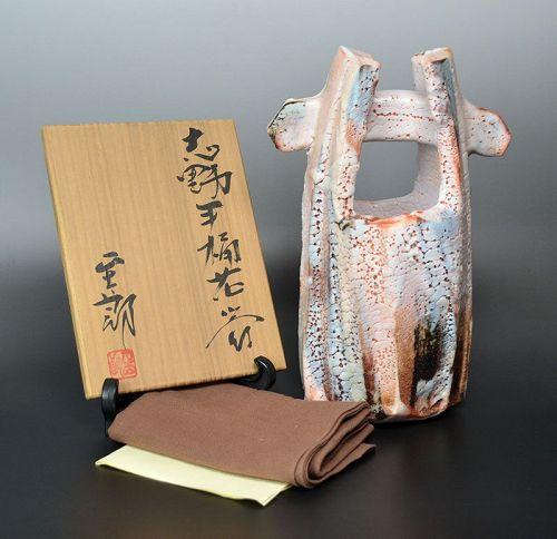 Hayashi Shotaro Contemporary Shino Vase