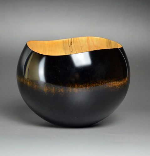 Tanaka Eiko Hand Turned and Lacquered Wooden Bowl