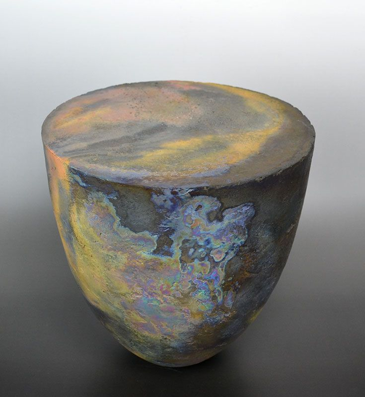 Hashimoto Tomonari Carbonized Ceramic Sculpture