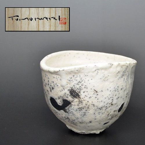 Shiro-Raku Chawan Tea Bowl by Hashimoto Tomonari