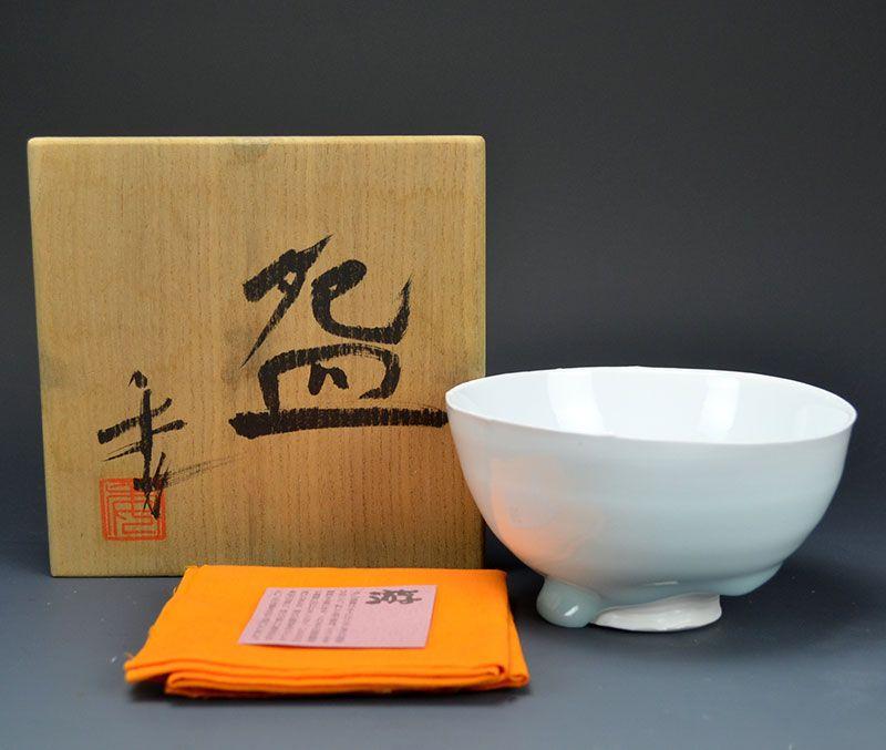 Contemporary Emerald Bowl by Kato Tsubusa