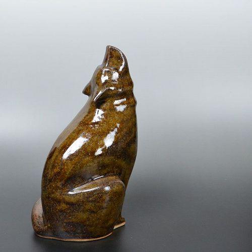 Ohii Toshiro (Chozaemon X) Dog Ceramic Sculpture