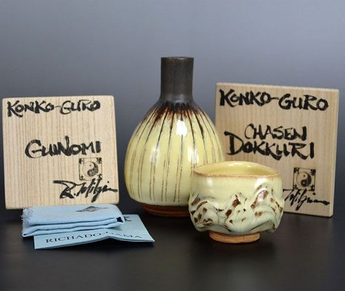 Richard Milgrim Tokkuri and Guinomi Sake Set