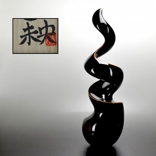 Contemporary Standing Spiral Sculpture by Takatsu Mio