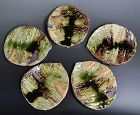 Renowned Murakoshi Takuma Leaf Shaped Slab Dishes