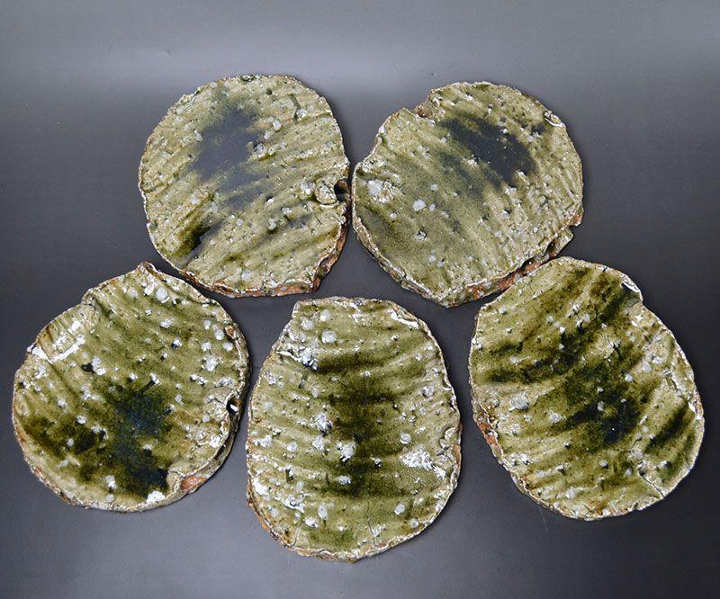 Murakoshi Takuma Contemporary Ogi-men Slab Plates