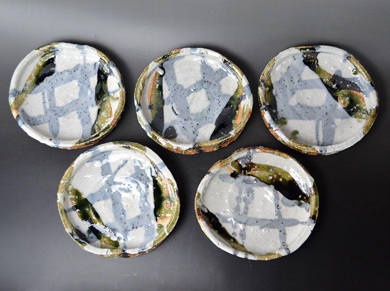 Murakoshi Takuma Set 5 Large Mukozuke Plates
