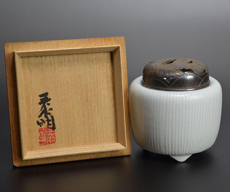 Superb Morino Taimei Koro Censer w/ Silver Lid