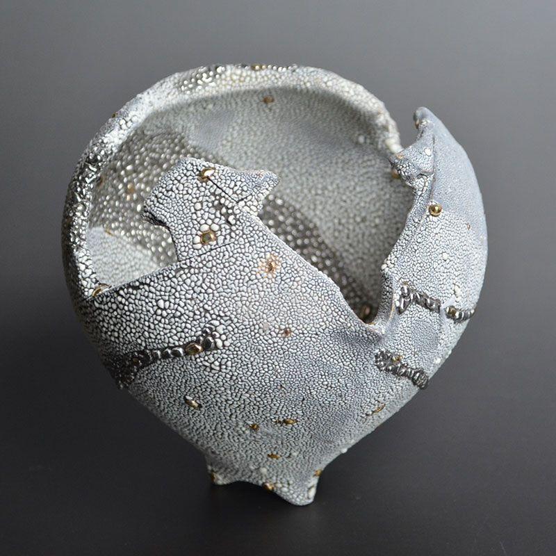 Ichikawa Toru Silver Katakuchi Sake Pot