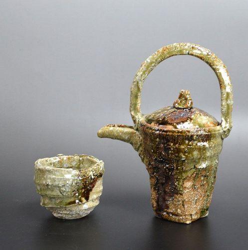 Contemporary Murakoshi Takuma Karasu-guchi Sake Set