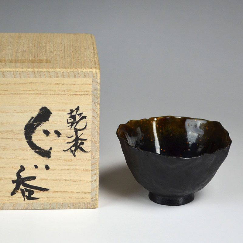Contemporary Dry Lacquer Sake Cup by Arai Etsuko