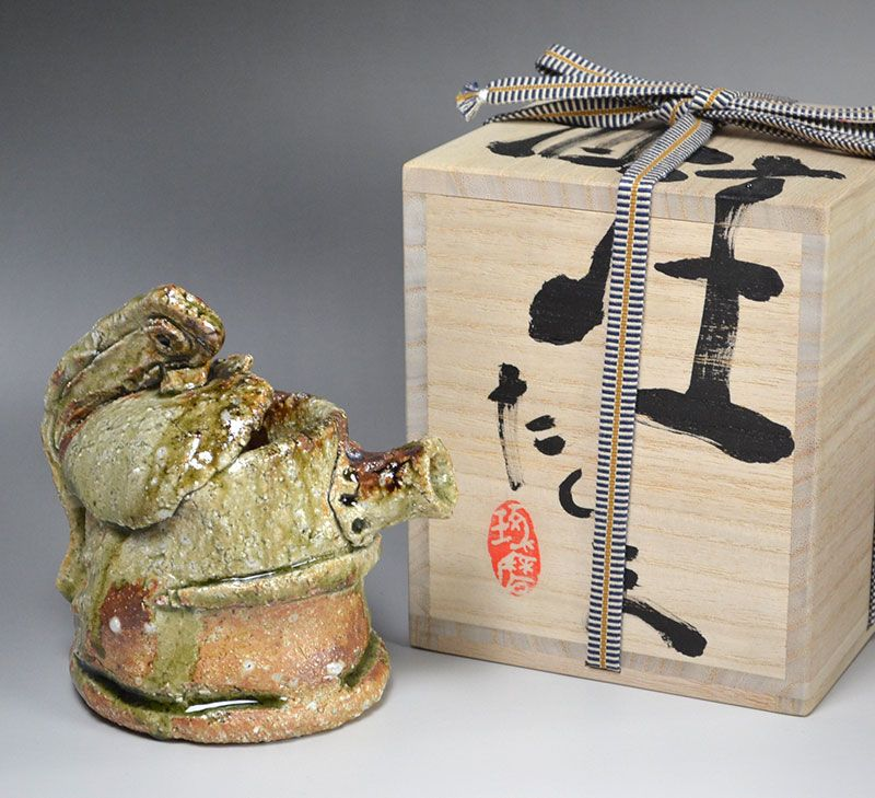 Ash Glazed Shuchu Sake Server by Murakoshi Takuma